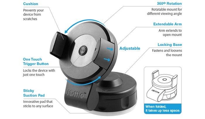 Iottie Easy Flex  Car Mount Holder