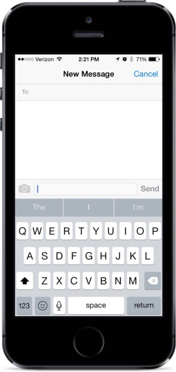 iOS 8 QuickType Keyboard