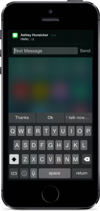 iOS 8 Quick Reply