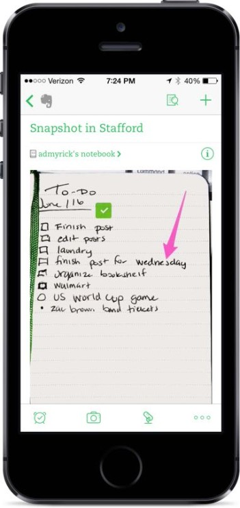 Evernote Finished Product