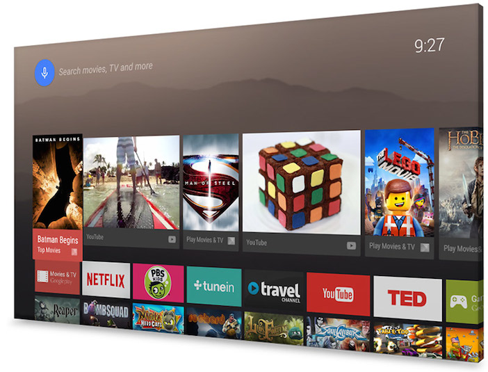 android tv screen