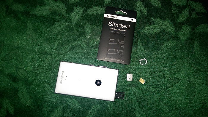 SIM Card Adapter Kit Layout