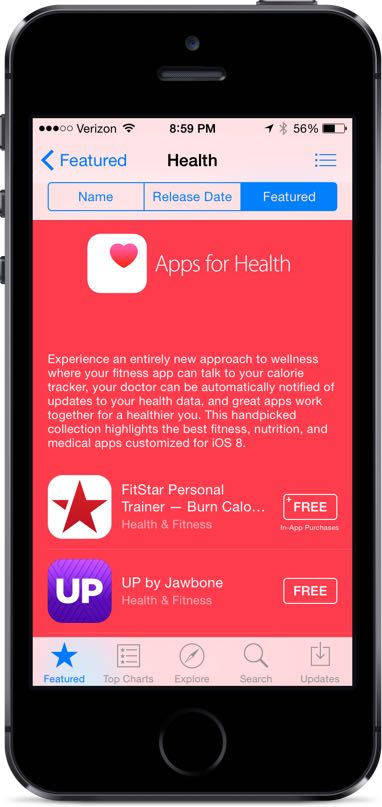 Featured HealthKit Apps