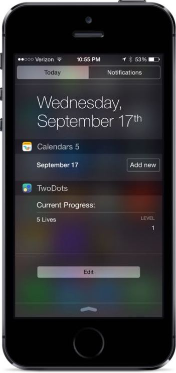 Two Dots Notification Center