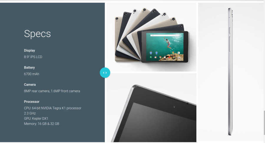 Android Lollipop Nexus 9 Specs