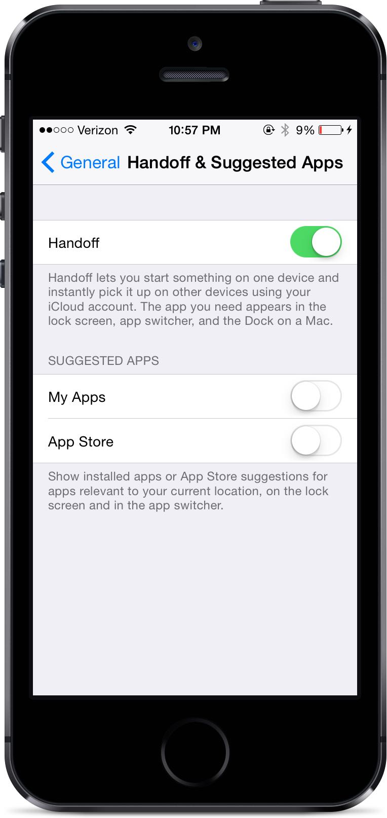 Handoff & Suggested Apps