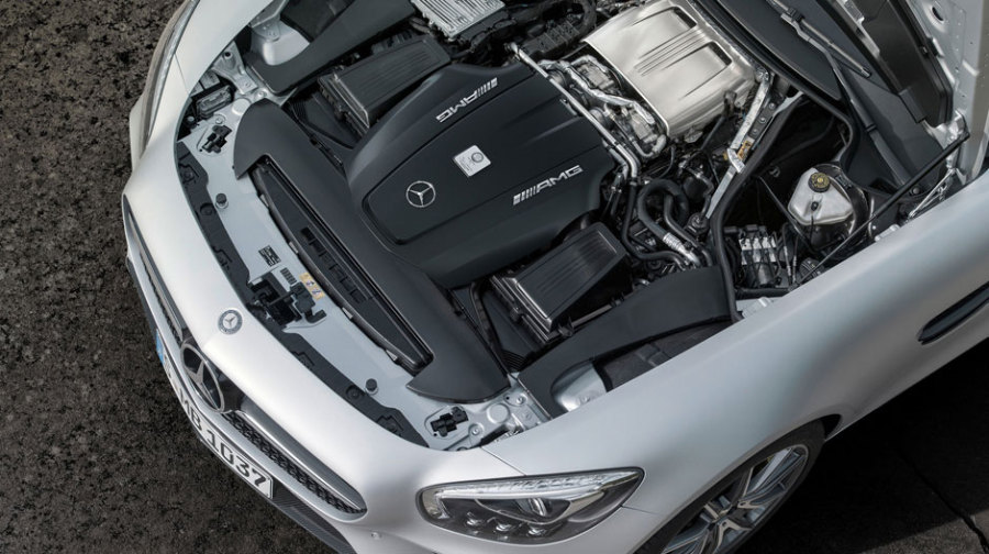 AMG GT s under the hood