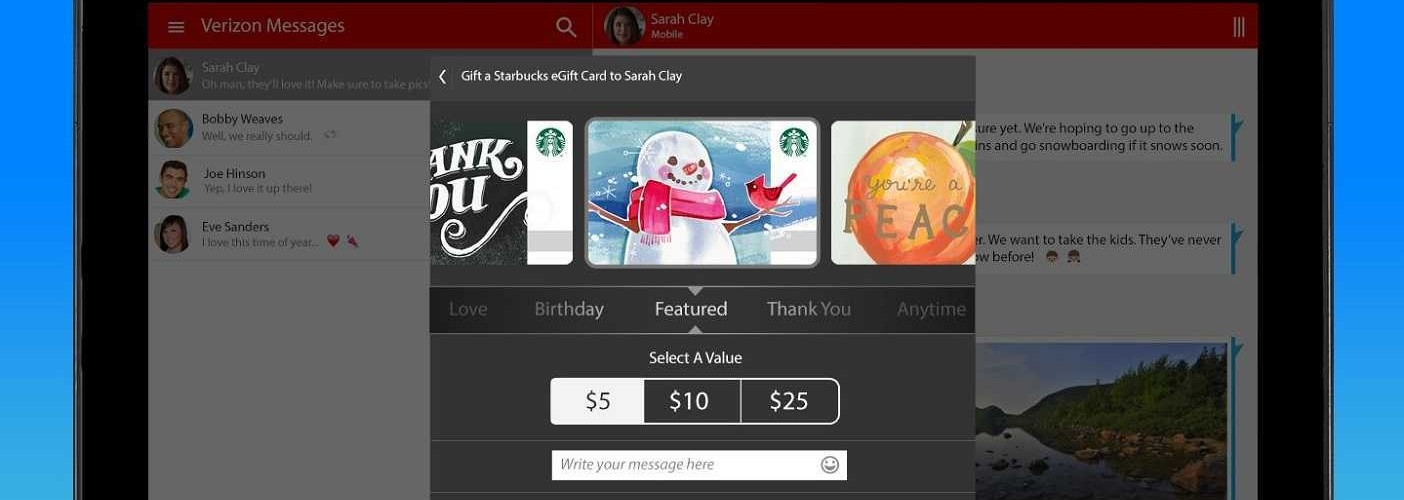 Verizon Messages Starbucks