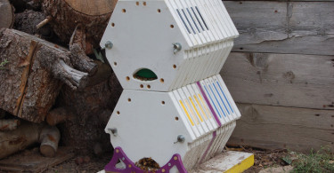 bee box stacked
