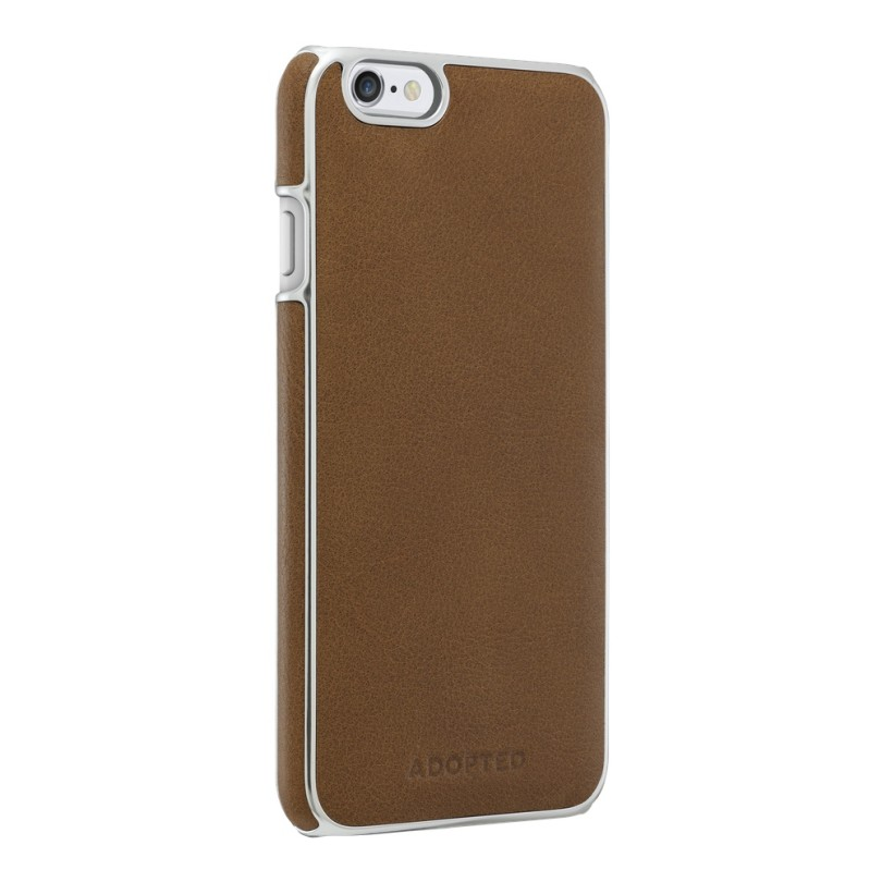 ADOPTED-iPhone 6 4.7-Leather Wrap Case (Saddle Brown-Silver)