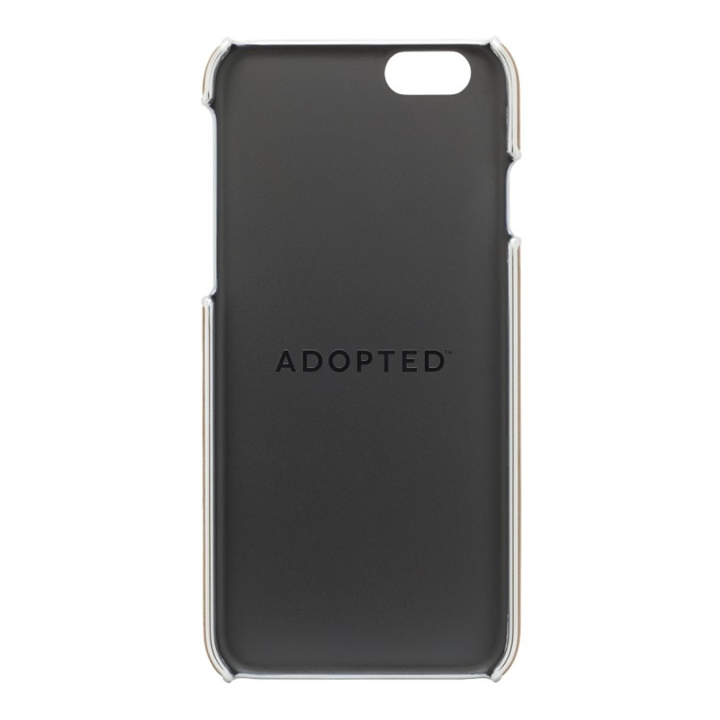 ADOPTED-iPhone 6 4.7-Leather Wrap Case (Saddle Brown-Silver)-5