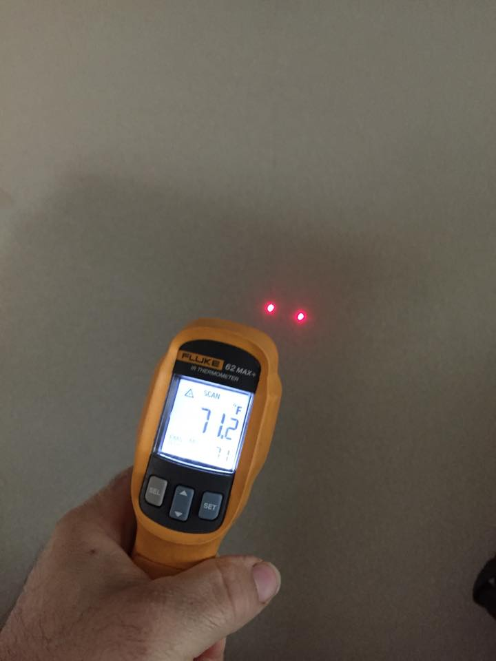 infrared thermometer in use