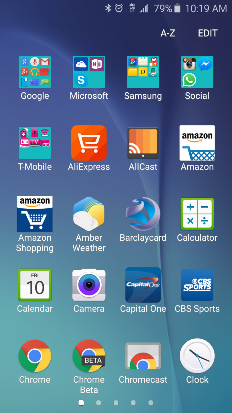 Galaxy S6 App Drawer - Reduced