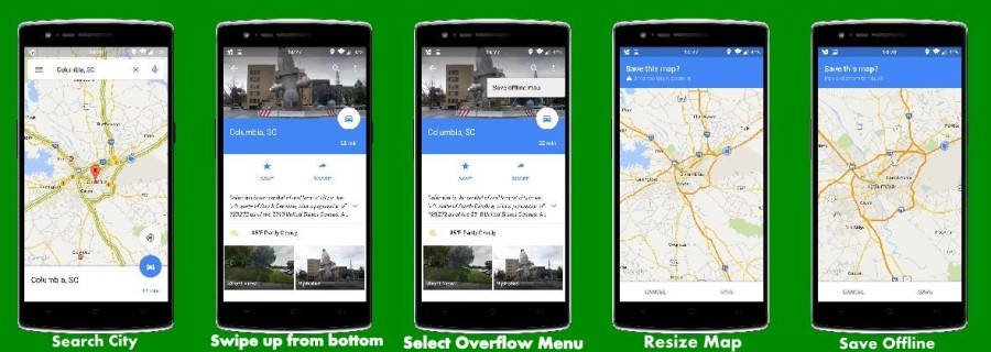 Steps to save offline maps!