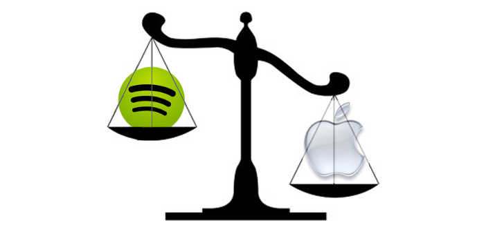 Spotify Apple Scales of Justice