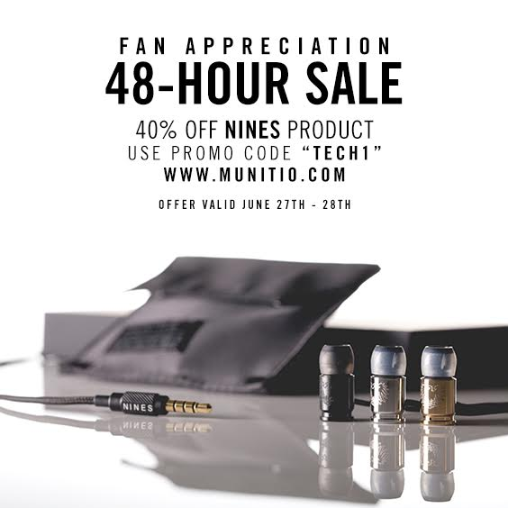 MUNITIO NINES Weekend Sale Featured Image