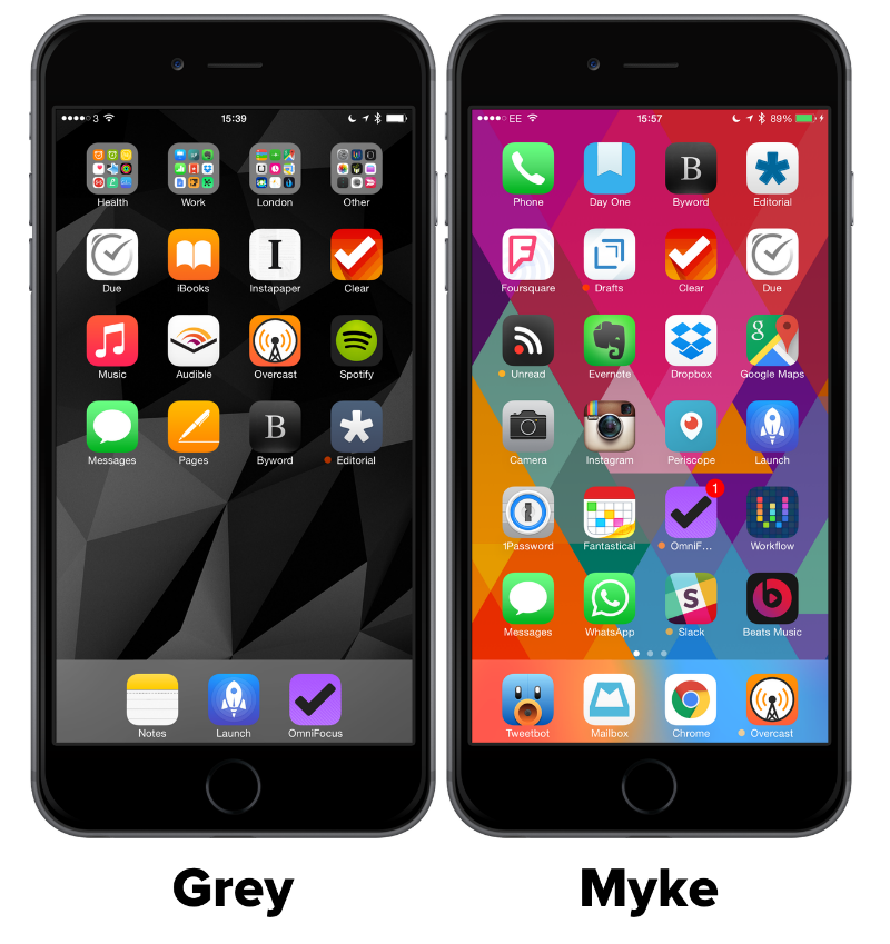 iOS Homescreens