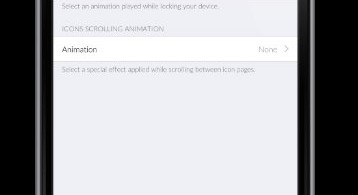 Springtomize 3 Animation Settings
