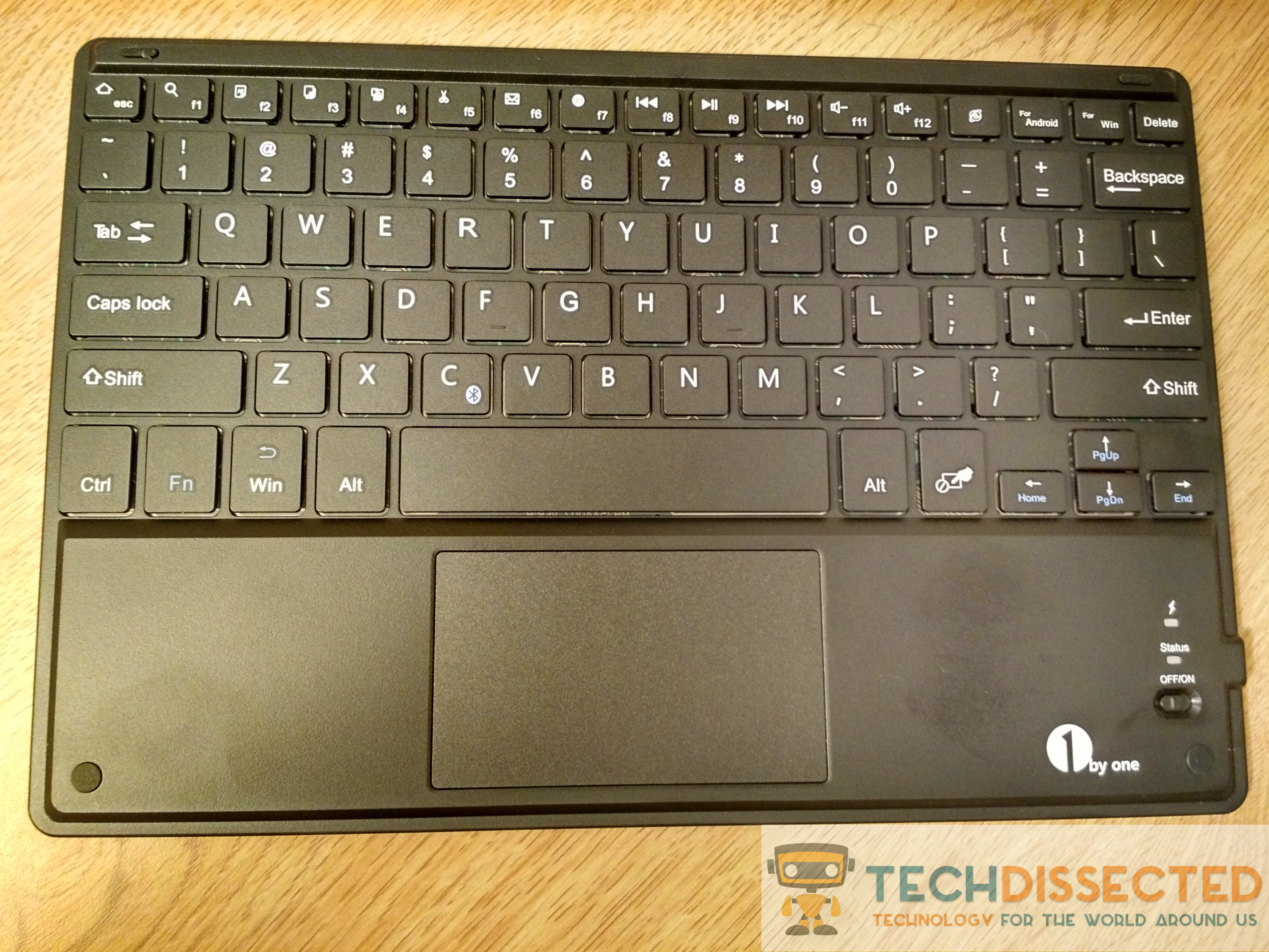 the 1byone bluetooth keyboard and touchpad review. Black Bedroom Furniture Sets. Home Design Ideas