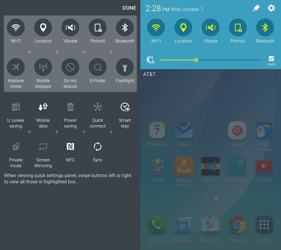 Galaxy Note 5 Quick Launch Menu
