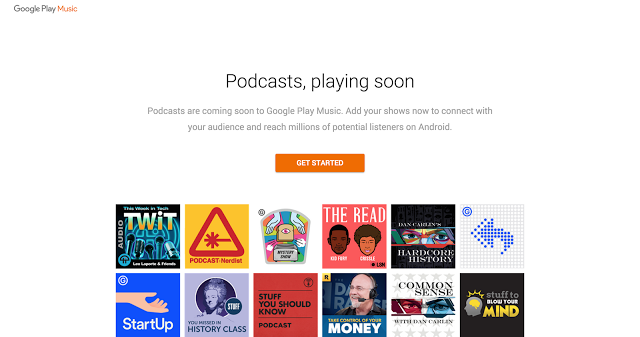 podcasts announcement screenshot