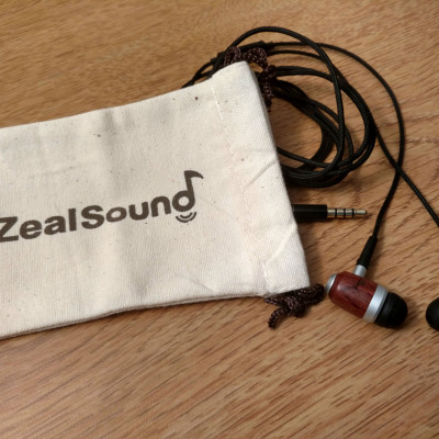 ZealSound HDE-300 Noise Isolating Wood Headphones