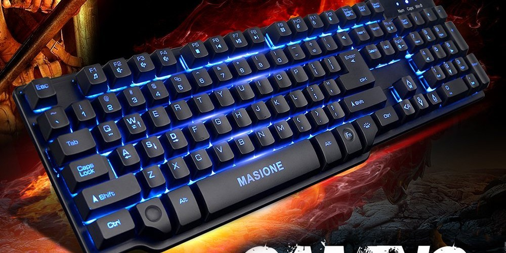 review masione led gaming keyboard techdissected. Black Bedroom Furniture Sets. Home Design Ideas