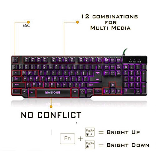 Masione Gaming Keyboard Image 4