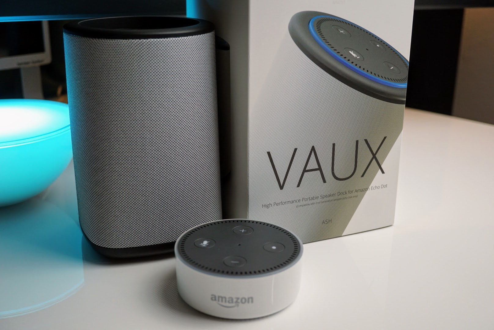 VAUX Portable Speaker Base For Amazon Echo