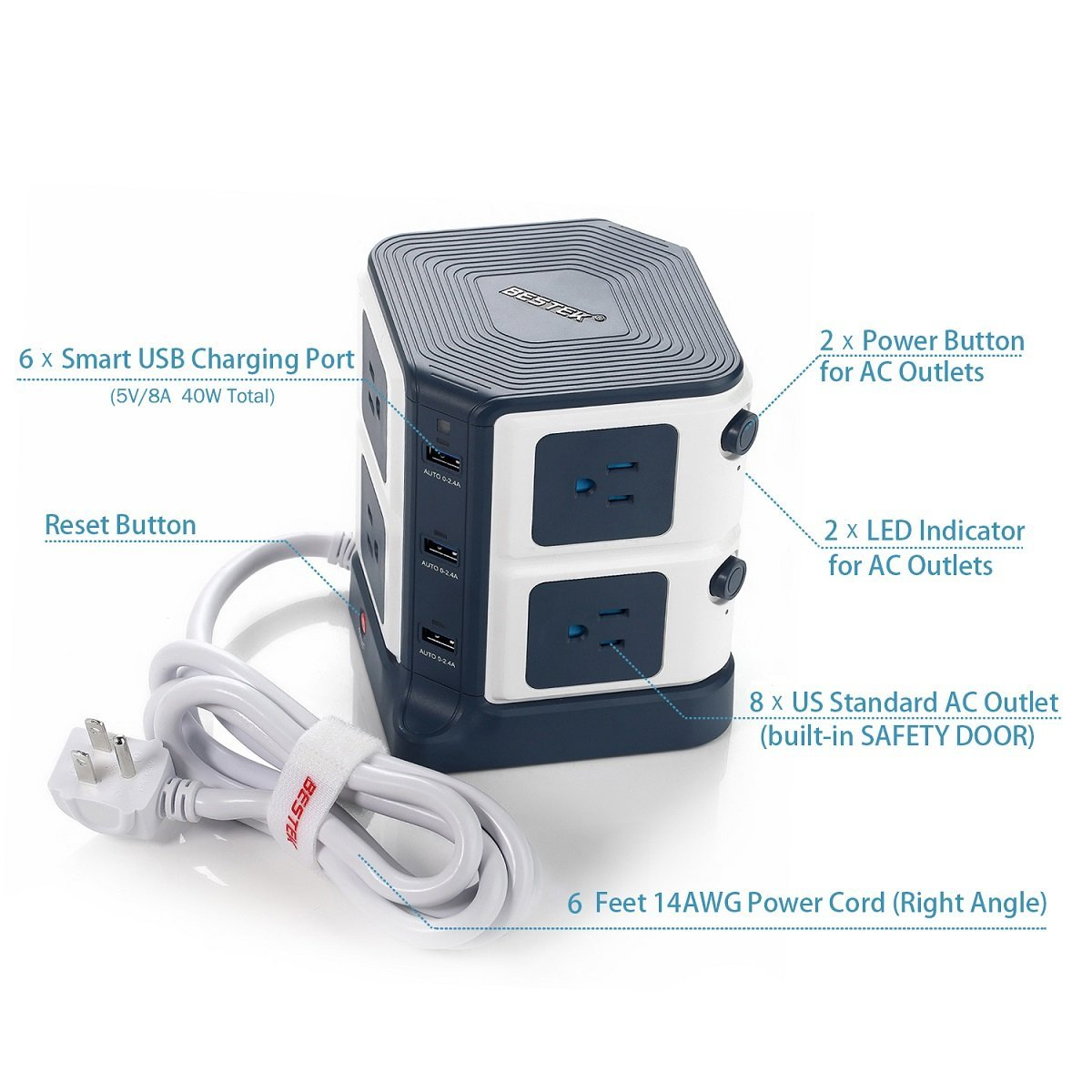 BESTEK Power Outlet Image 2