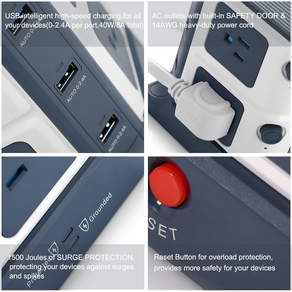 BESTEK Power Outlet Image 3