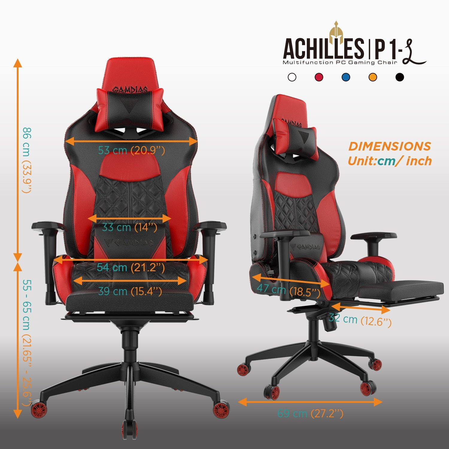 Gamdias Achilles P1 Gaming Chair Image 4